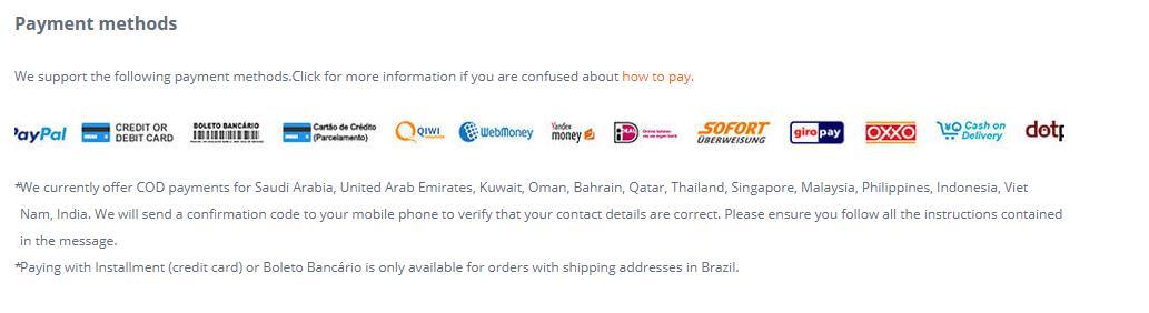 banggood.com-payment methods