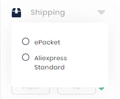 Filter by shipping methods