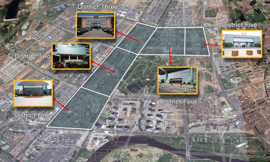 Map of Yiwu market