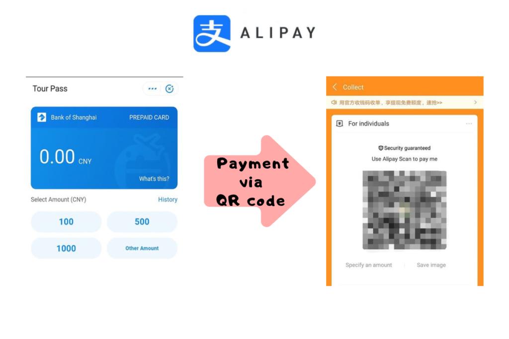 Payment via QR code