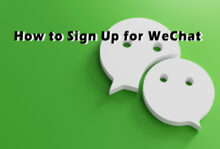 How to sign up for WeChat